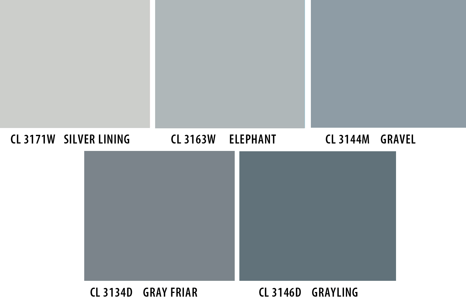 5 shades of grey colour snapshots Different colours of grey paint